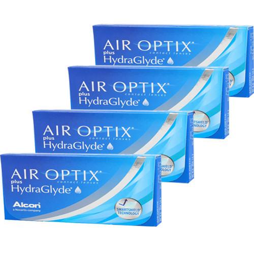 Air Optix Aqua Plus HydraGlyde Combo 4 caixas
