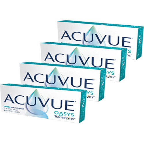 Acuvue Oasys com transitions combo 4 caixas