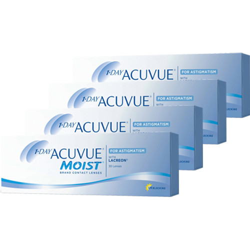 Combo 4 caixas Acuvue 1 Day Astigmatismo